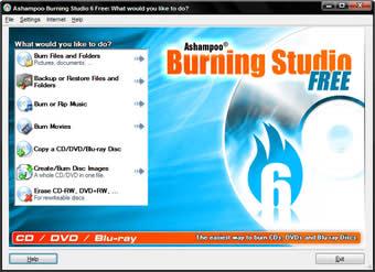 نسخه رایگان نرم افزار رایت Ashampoo Burning Studio FREE
