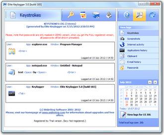 ضبط مخفیانه کارهای انجام شده با کامپیوتر Elite Keylogger
