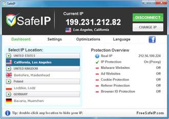 مخفی سازی آی پی واقعی SafeIP