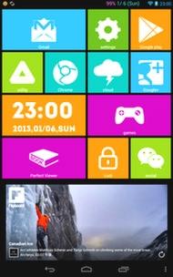 تم ویندوز 8 برای آندروید Launcher