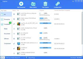 نرم افزار جدید مدیریت دانلود EagleGet