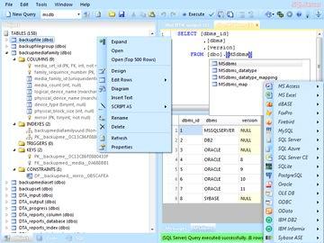 نرم افزار مدیریت دیتابیس