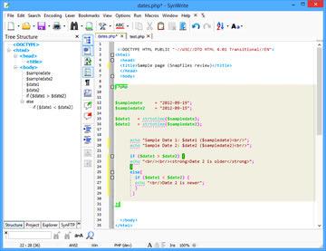 نرم افزار ویرایش متن سورس کدها SynWrite