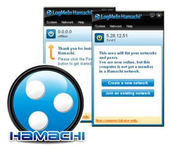 برنامه ایجاد شبکه مجازی Hamachi