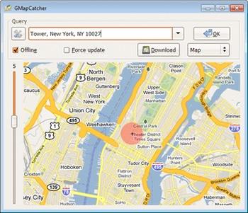مرور آفلاین نقشهها GMapCatcher