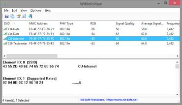 شناسایی مشخصات شبکه Wifi