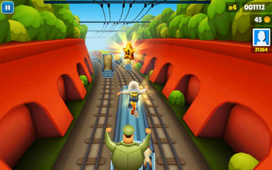 محیط بازی Subway Surfers