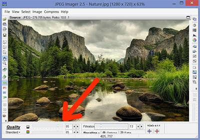 آموزش کم کردن حجم عکسها JPEG Imager