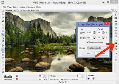 شیوه کار با نرم افزار JPEG Imager