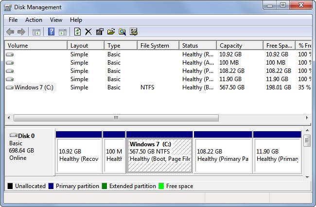 ایجاد درایو برای نصب ویندوز